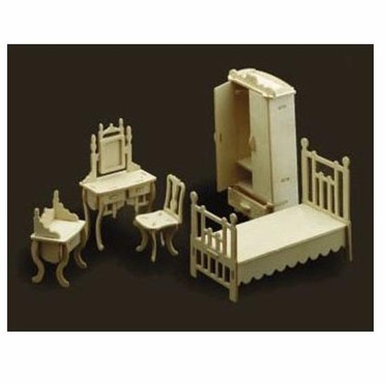 Speelgoed poppenhuis slaapkamer meubels bouwpakket -