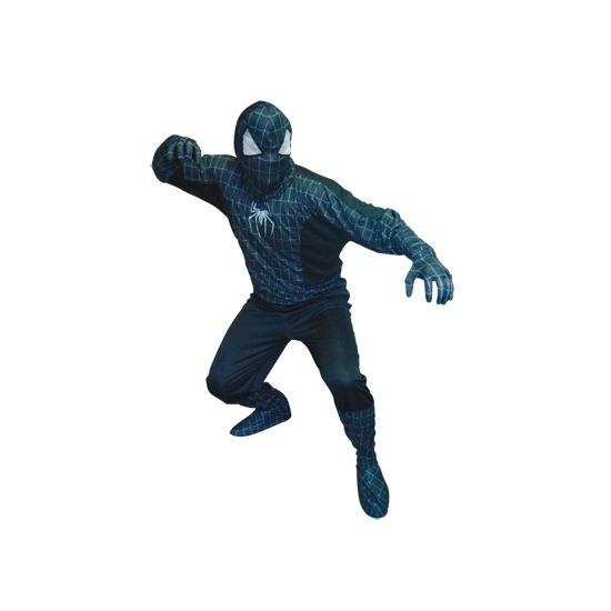 Spinnenheld kostuum zwart voor heren