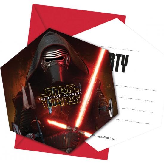 Star Wars uitnodigingen 6 stuks Multi