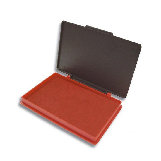 Stempelkussen rood 7 x 11 cm