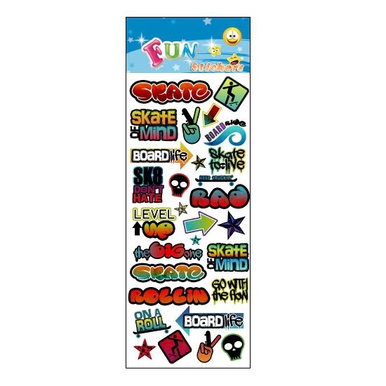 Stickervel graffiti stijl Multi