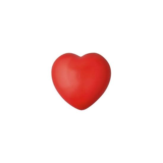 Stressbal rood hartje 7 cm