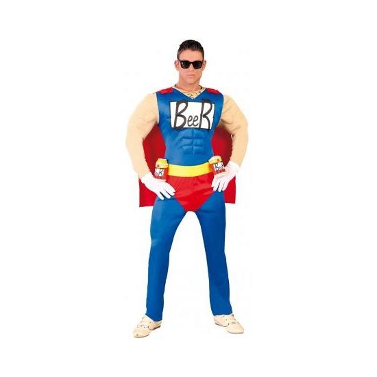 Super beer man kostuum gespierd