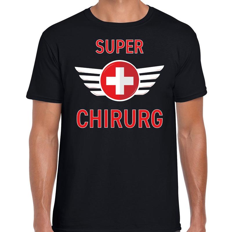 Super chirurg cadeau t-shirt zwart voor heren
