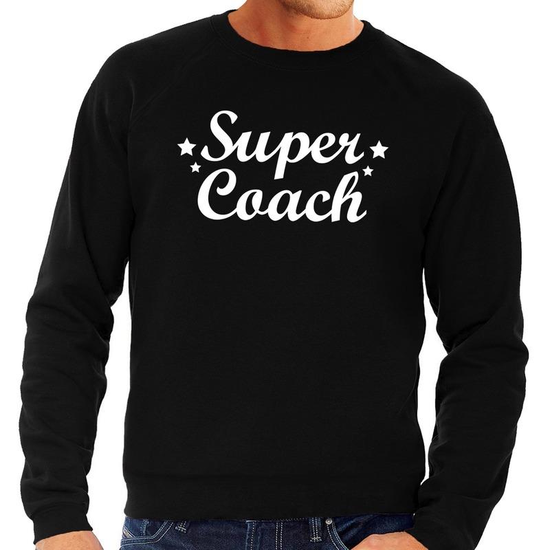Super coach cadeau sweater zwart voor heren