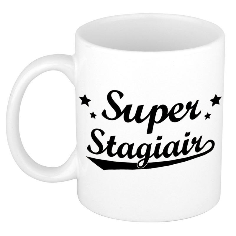 Super stagiair cadeau mok - beker met sterren 300 ml