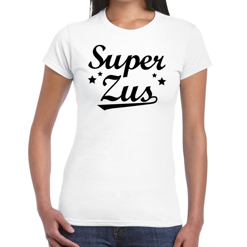 Super zus cadeau t-shirt wit voor dames