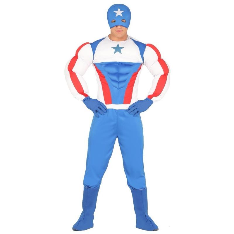Superheld kapitein Amerika kostuum voor heren
