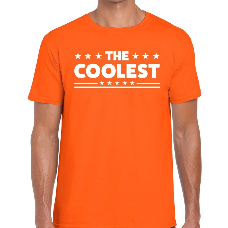 The Coolest tekst t-shirt oranje heren
