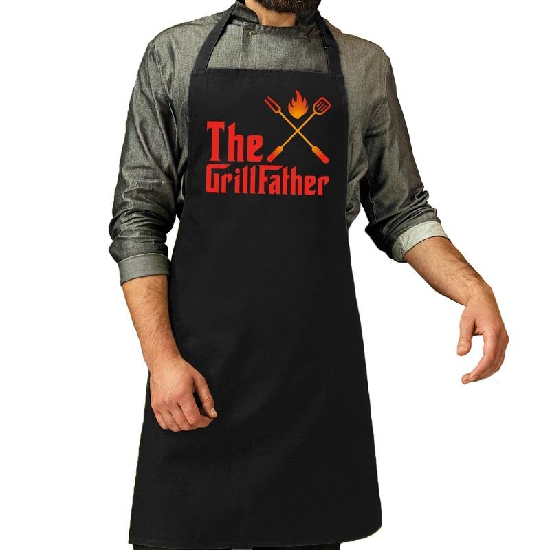 The GrillFather barbecue schort - keukenschort zwart voor heren
