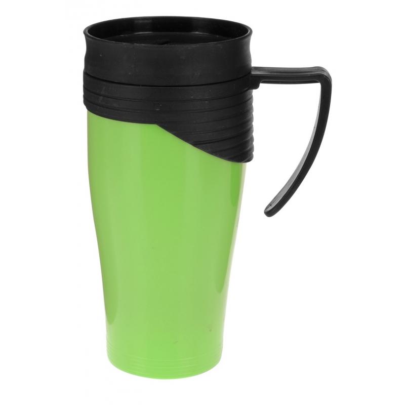 Thermosbeker/warm houd beker groen 420 ml
