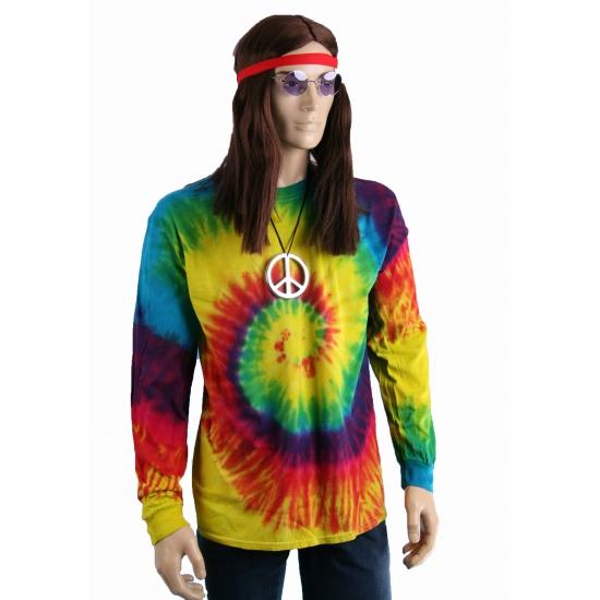 Tie-dye lange mouw t-shirt rainbow