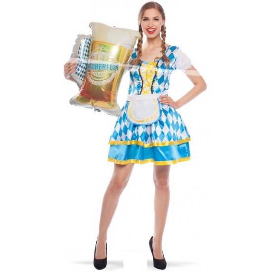 Tiroler beieren jurkje blauw