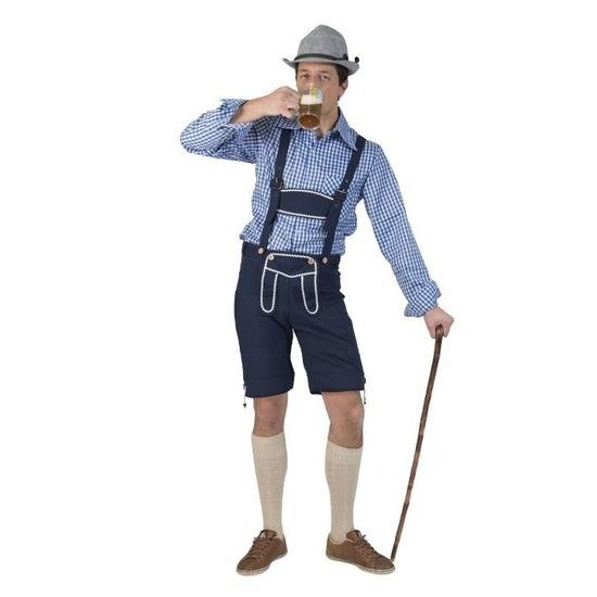 Tiroler blauwe broek voor heren