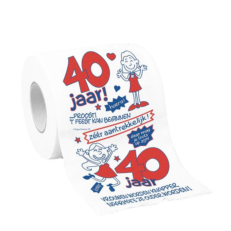 Betere Toiletpapier 40 jaar vrouw verjaardag cadeau/versiering VT-64
