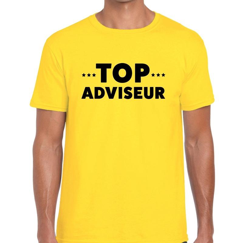 Top adviseur beurs/evenementen t-shirt geel heren