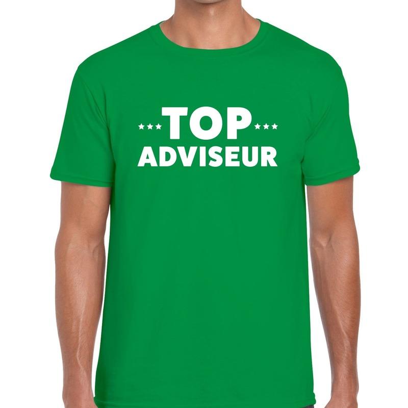 Top adviseur beurs/evenementen t-shirt groen heren