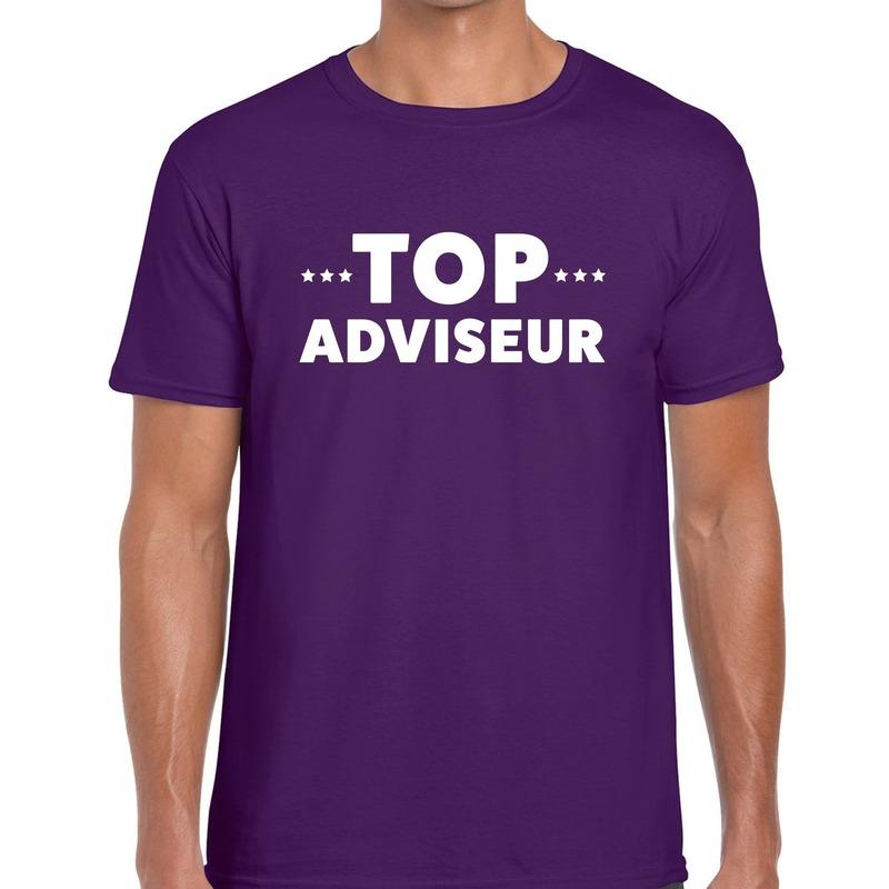 Top adviseur beurs/evenementen t-shirt paars heren