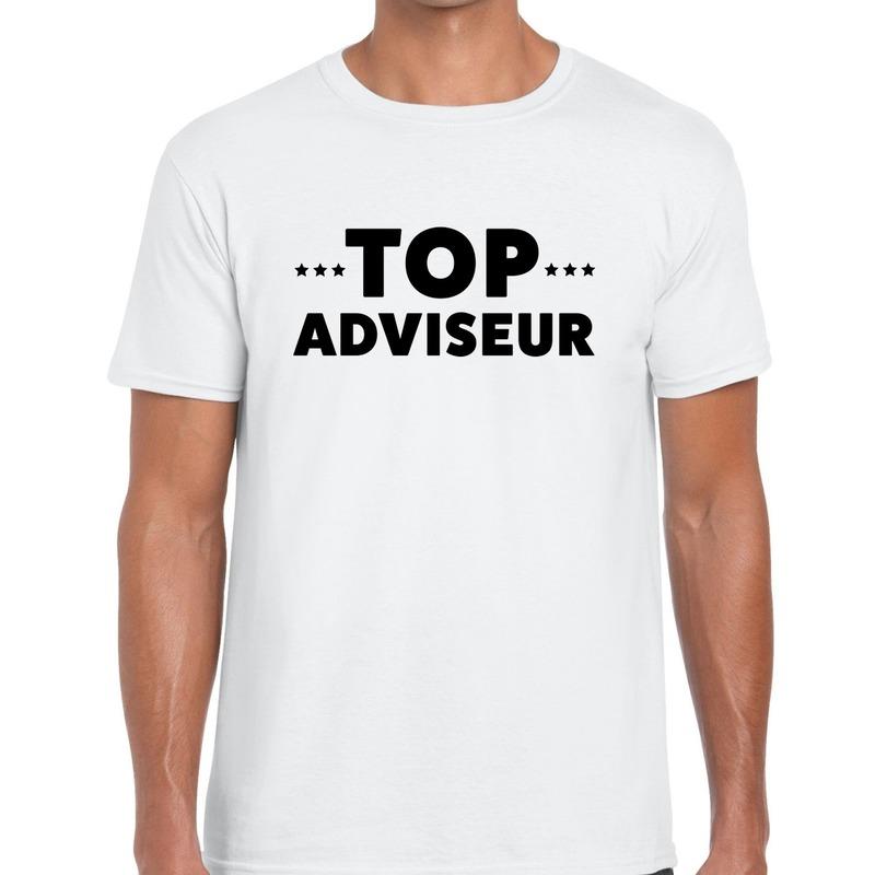 Top adviseur beurs/evenementen t-shirt wit heren