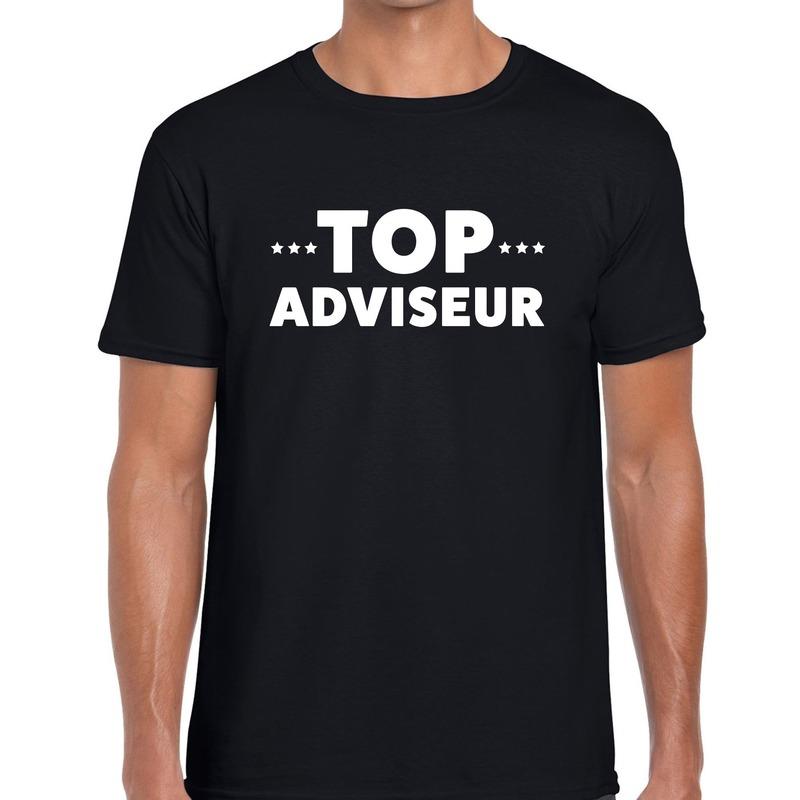 Top adviseur beurs/evenementen t-shirt zwart heren