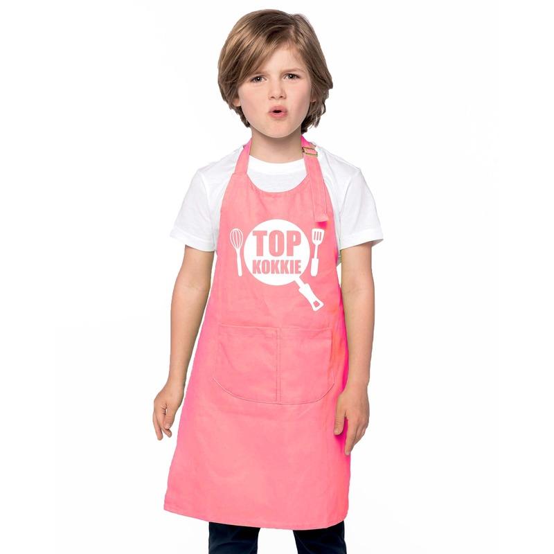 Top kokkie keukenschort roze kinderen Roze