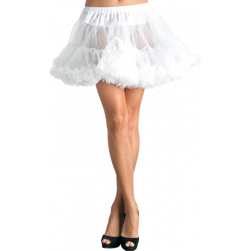 Toppers - Korte witte petticoat/tutu voor dames