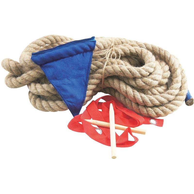 Touwtrekken spel met 10 meter touw