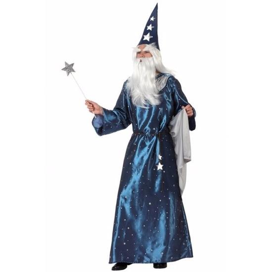 Tovenaars kostuum blauw