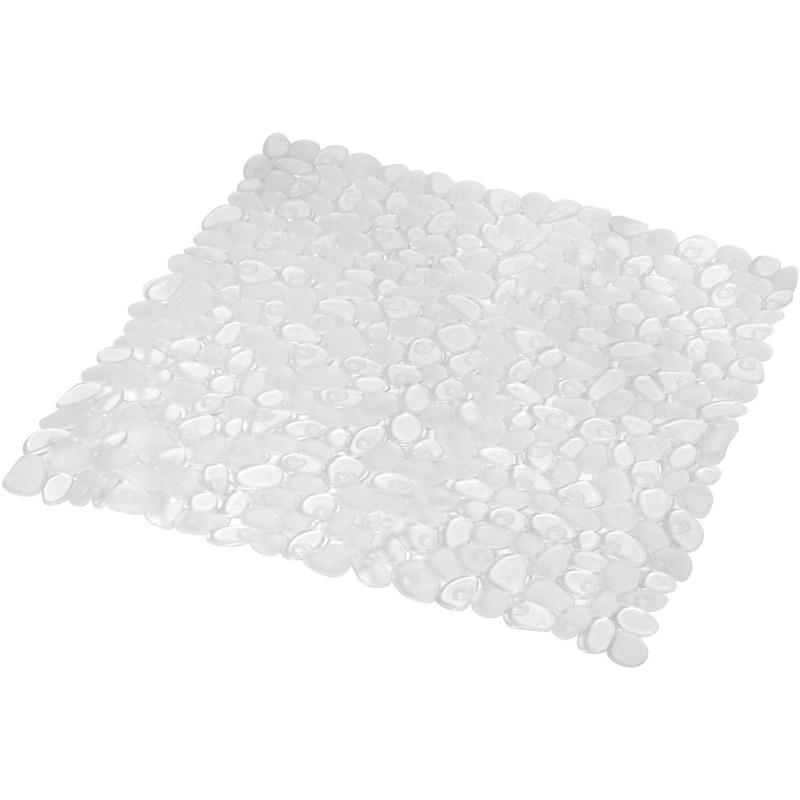 Transparante anti-slip douchemat 52 x 52 cm vierkant