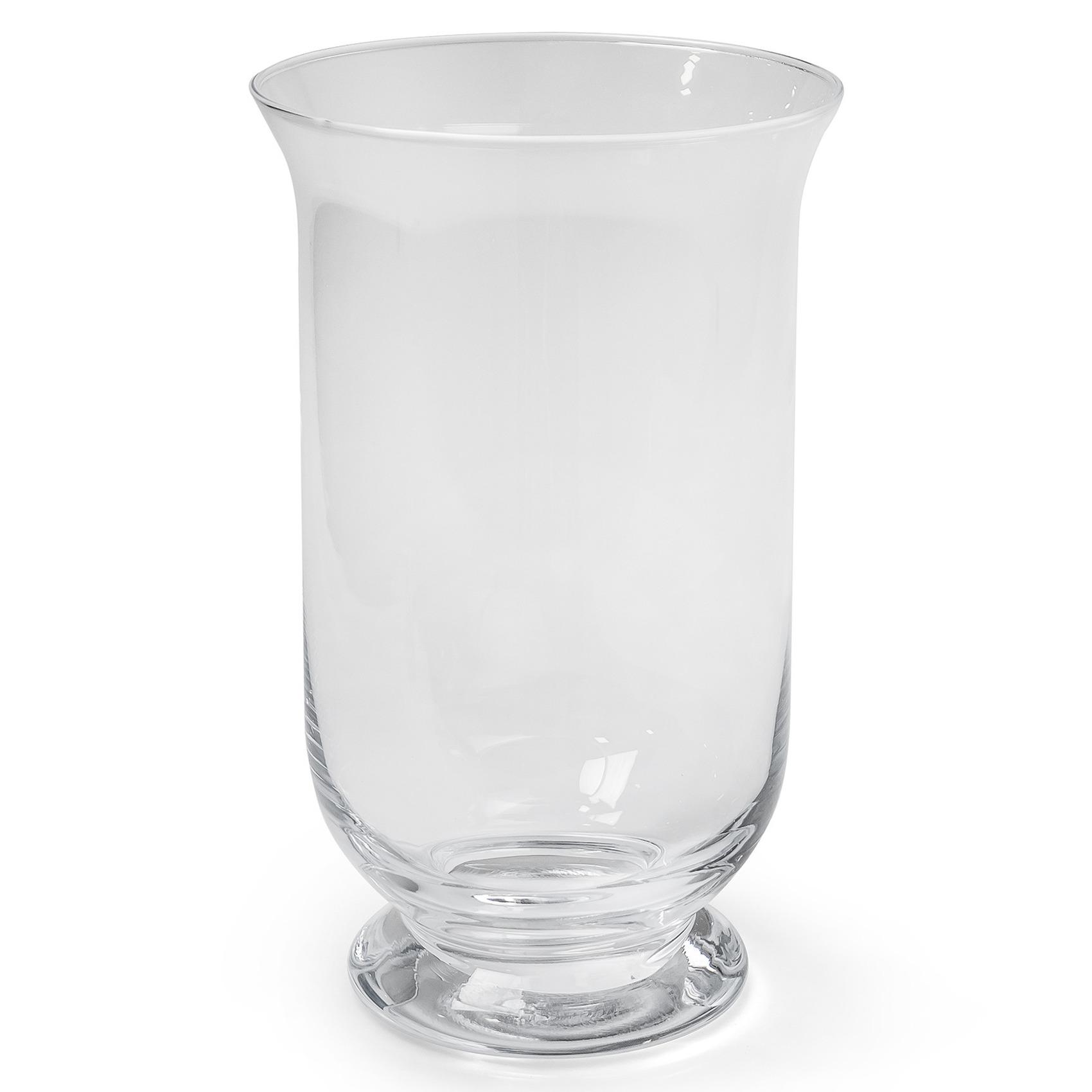 Transparante windlicht kaarsenhouder van glas 15 x 25 cm