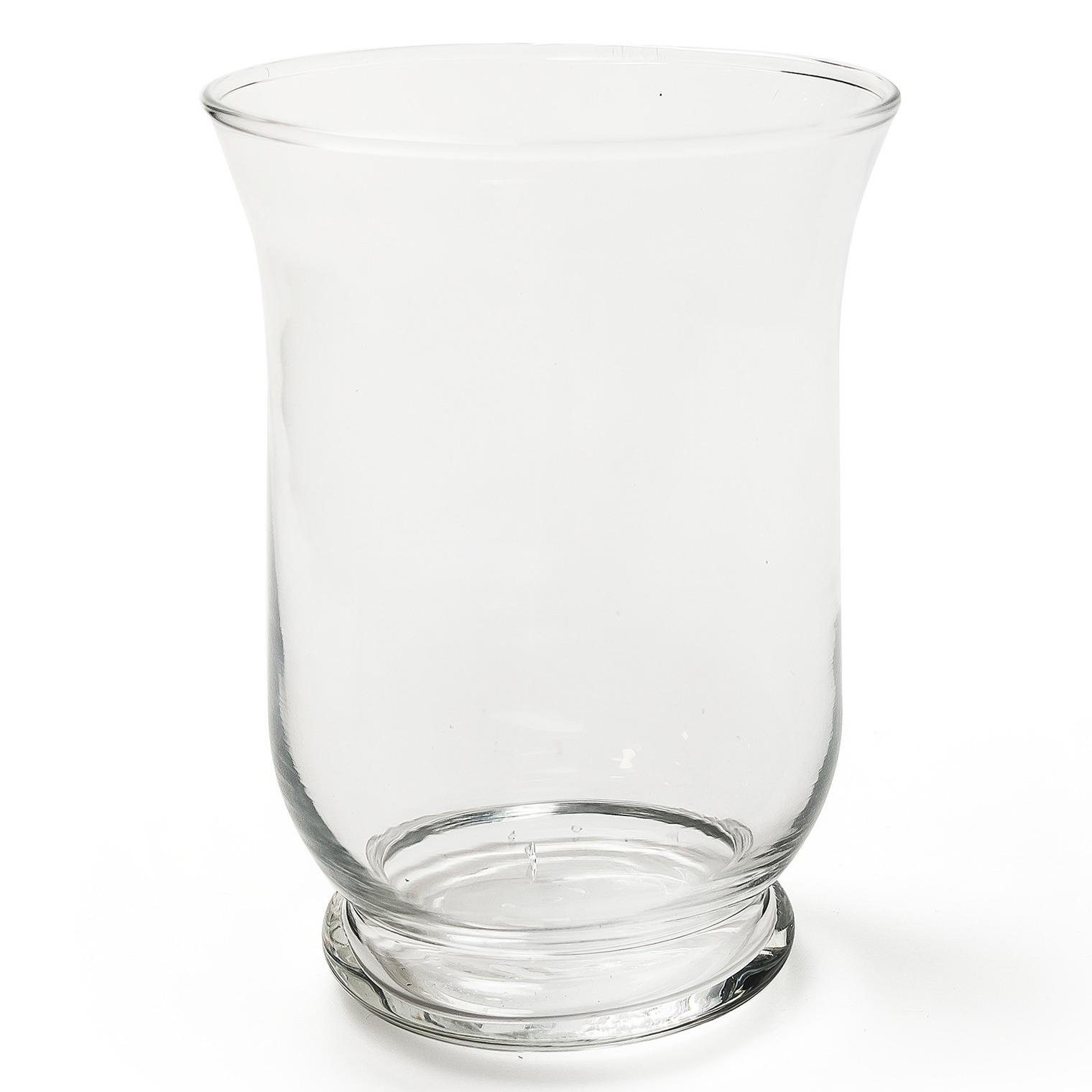 Transparante windlicht vaas-vazen van glas 11 x 15 cm