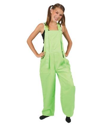 Tuinbroek fluor groen voor kinderen