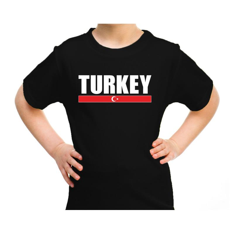 Turkey - Turkije supporter t-shirt zwart voor kids