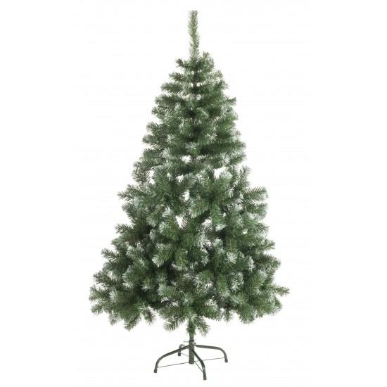 Tweedekans kunst kerstboom Abies 150 cm witte punten