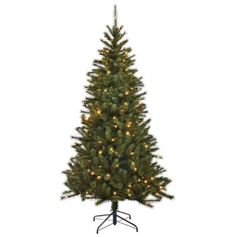 Tweedekans kunst kerstboom Black Box Kingston met licht 215 cm