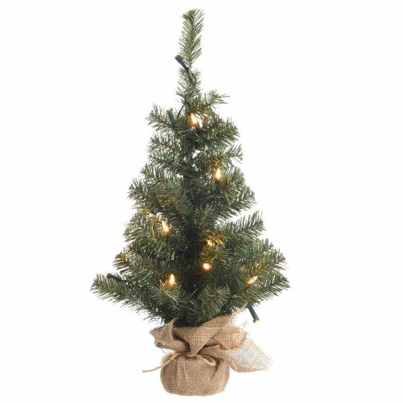 Tweedekans kunst kerstboom groen warm witte verlichting 90 cm