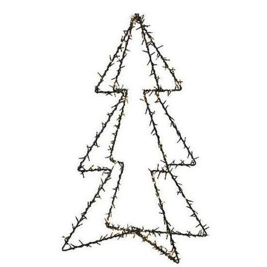 Tweedekans verlichte figuren kerstboom 98 cm voor buiten