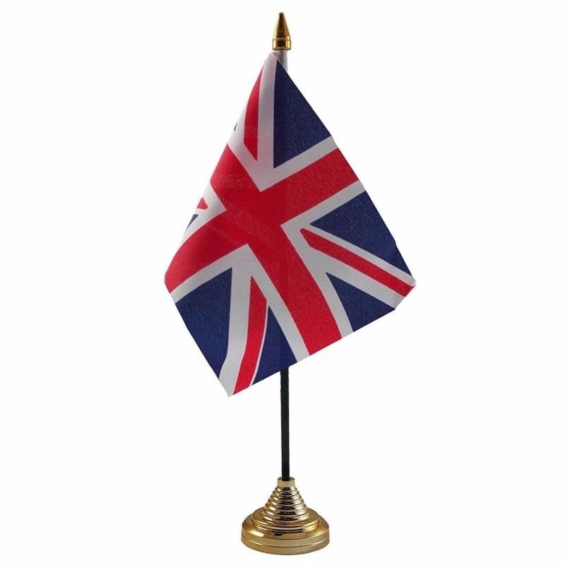Union Jack tafelvlaggetje 10 x 15 cm met standaard