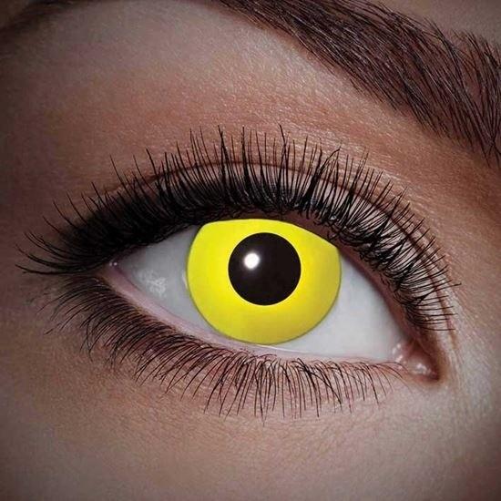 UV flits party lenzen geel