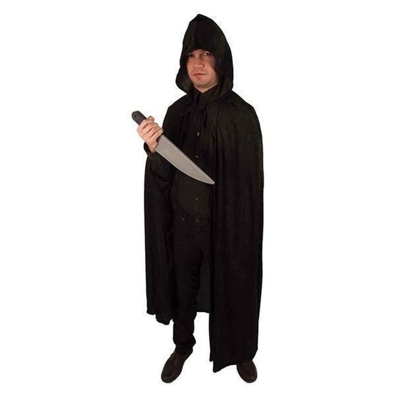 Venetiaanse cape zwart volwassenen