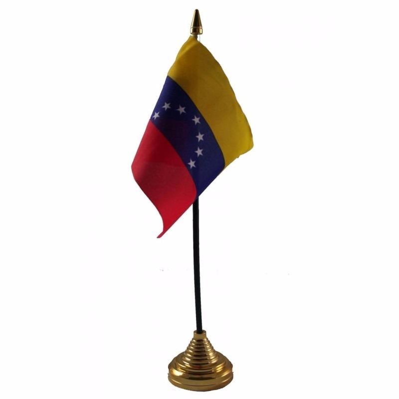 Venezuela tafelvlaggetje 10 x 15 cm met standaard