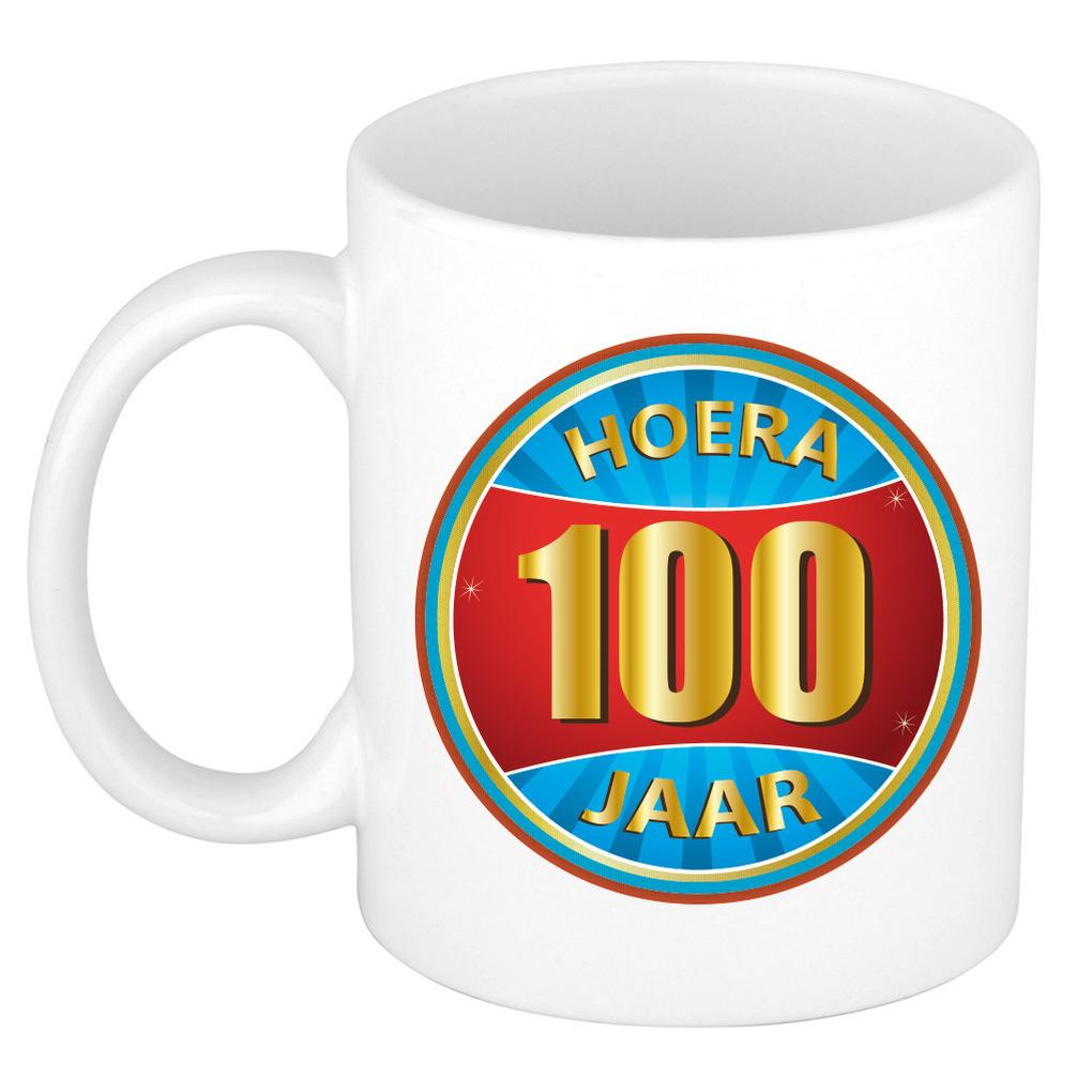 Verjaardag mok beker hoera 100 jaar verjaardagscadeau