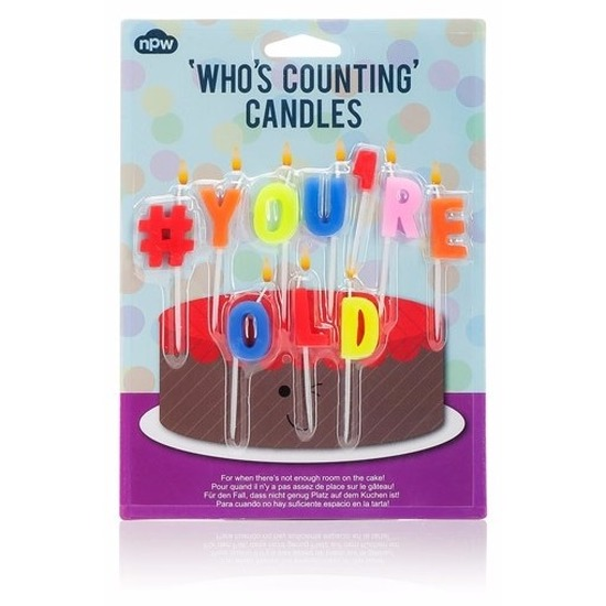 Verjaardagskaarsjes You're old