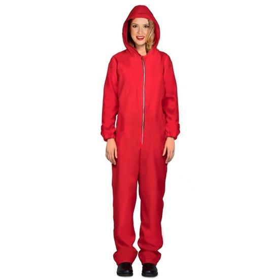 Verkleed overall Papel rood voor dames