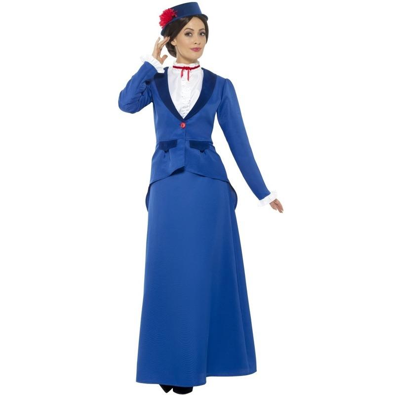 Victoriaanse kinderjuffrouw kostuum voor dames