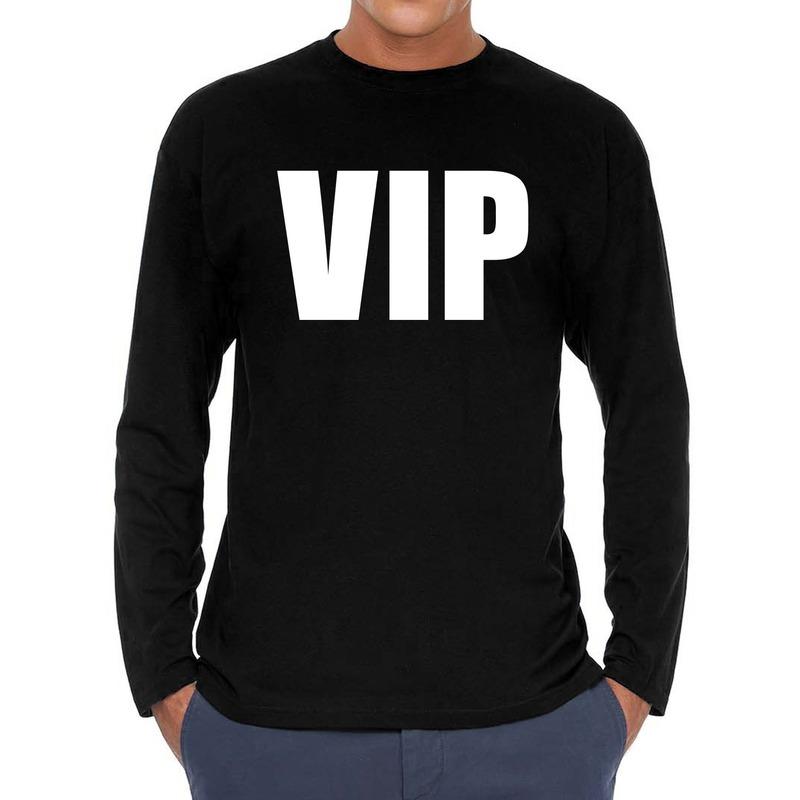 VIP long sleeve t-shirt zwart voor heren