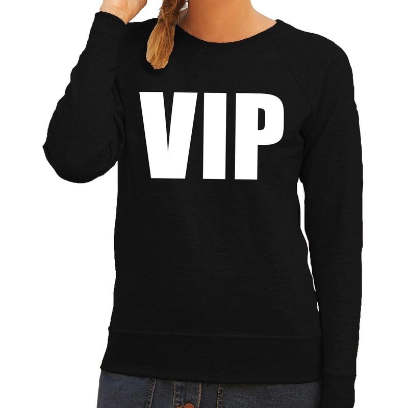 VIP tekst sweater - trui zwart voor dames