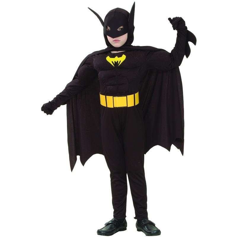 Vleermuisheld kostuum gespierd voor jongens
