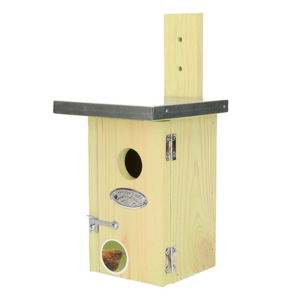 Vogelhuisje/nestkastje winterkoning 25 cm - Vogelhuisjes