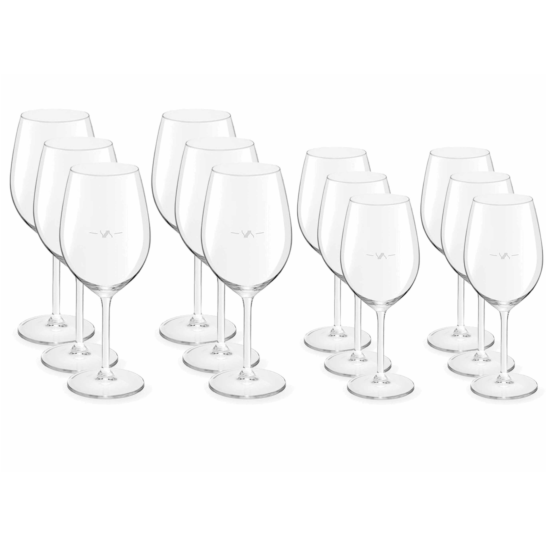Voordeelset van 6x witte wijnglazen 320 ml en 6x rode wijnglazen 530 ml